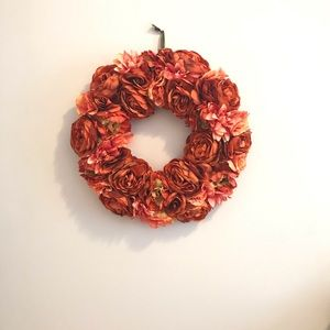 Other - Pink/Peach Coloured Flower Wreath